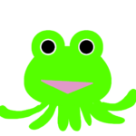 【カエルのイラスト】カエルエイリアン