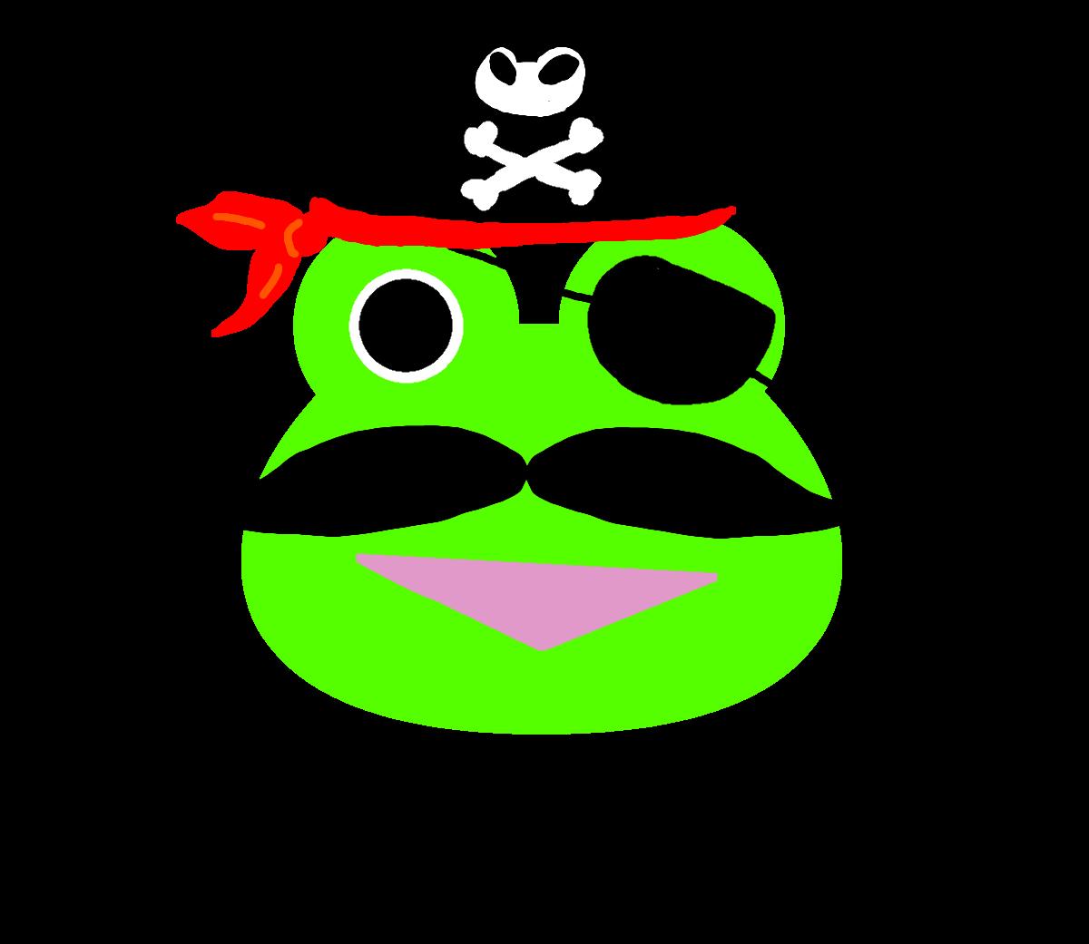 【カエルのイラスト】カエルの海賊船長