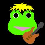 【カエルのイラスト】カエルのギタリスト
