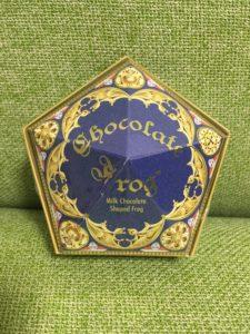 カエルチョコレートの箱の表