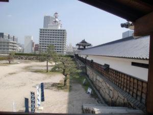 広島城の城壁