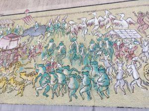 広島のかえるの絵の壁2