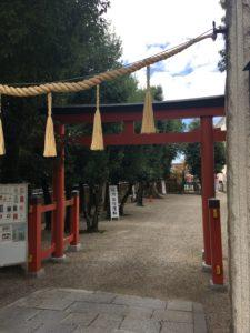 率川神社内の様子