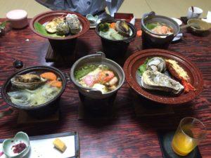 伊勢の潮香苑の夕食