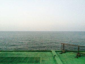 伊勢の潮香苑の部屋から見える海