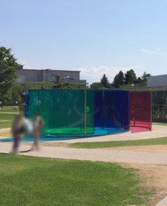 金沢21世紀美術館の庭