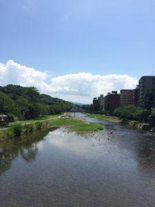 金沢の主計町から見た浅野川