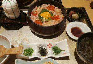 金沢の口福の海鮮ひつまぶし1