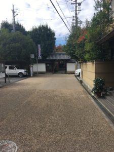 漢國神社に行く道