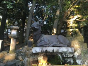 春日大社の鹿の銅像