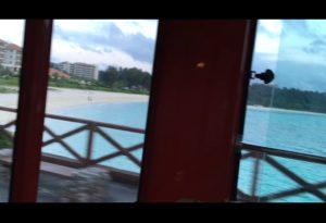 ザ・ブセナテラスのシャトルバスから見える海