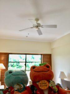ザ・ブセナテラスの部屋の天井のシーリングファン