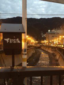 下呂温泉の白鷺橋の眺め