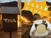 下呂温泉で冬の花火を見よう【かえるを模したお土産いろいろ】【しらさぎ物語サンドアイスは美味しい】