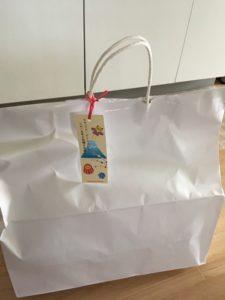 かえるのピクルス福袋ハッピーバッグ2019年のタグ付き紙袋
