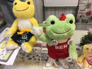 マルシェ・ド・ピクルス沖縄の店内でベニちゃんを撮影する様子