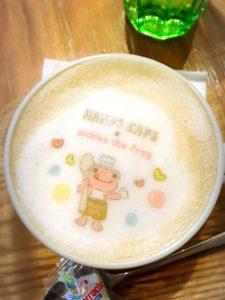 かえるのピクルスの2019年ハンズカフェとのコラボメニューのカフェラテ
