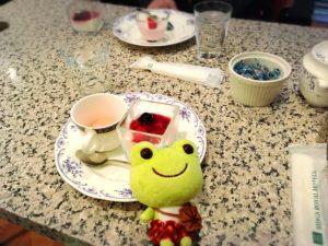 リーガロイヤル広島の鉄板焼きなにわのデザート