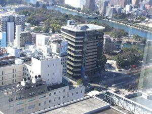 リーガロイヤル広島の部屋からの景色1