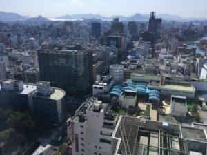リーガロイヤル広島の部屋からの景色2