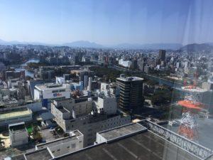 リーガロイヤル広島の部屋からの景色3