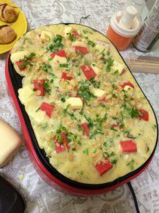 カニカマとチーズ入りたこ焼き