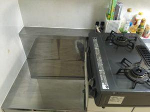 キッチンを掃除した様子
