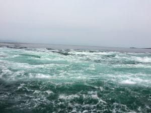 鳴門で船に乗った時の海の様子
