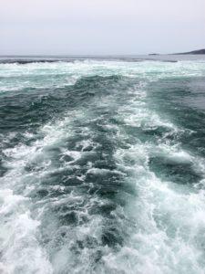 鳴門で船に乗った時の海の様子2