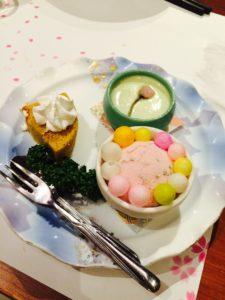 桜の抄の夕食のデザート