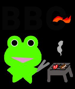 みらケロ作「BBQを楽しむカエルくん」