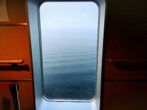 フェリーさんふらわあの窓から見た海