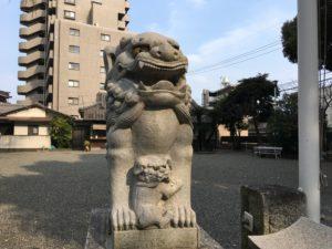 大分市の長浜神社の狛犬