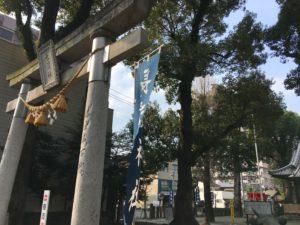大分市の長浜神社の鳥居