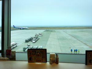 大分空港で朝食を取ったカフェ内の様子