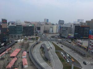 大分駅前の俯瞰図