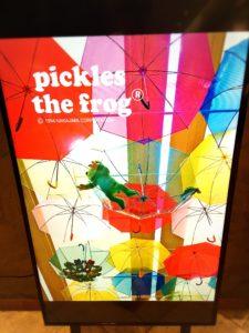 かえるのピクルス大阪イベント2019コラボカフェのデジタルサイネージ2