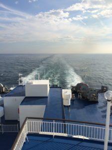 太平洋フェリーの船の軌跡