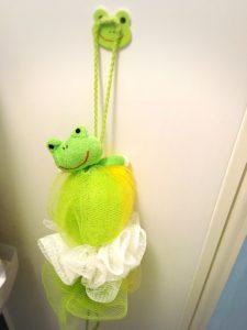 カエルのお風呂で体洗う用スポンジ