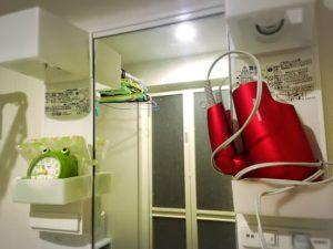 洗面所のヘアドライヤーナノケア