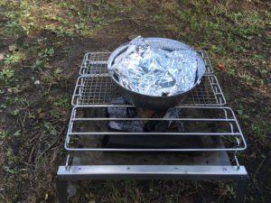 DODの秘密のグリルさんと使い捨てアルミ鍋