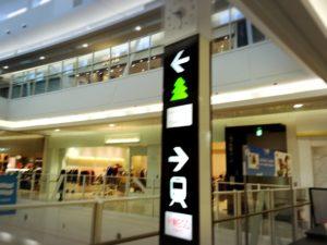 イオン越谷レイクタウンmoriと駅の表示案内