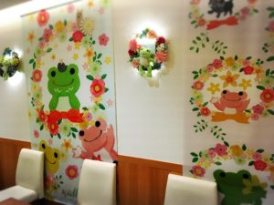 カフェ店内の装飾