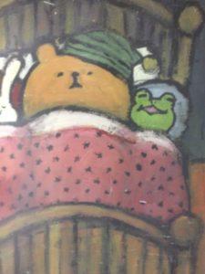 吉祥寺キッチンククゥのクマとカエルの絵