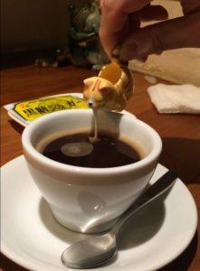 吉祥寺キッチンククゥのネコ型コーヒーミルク入れ