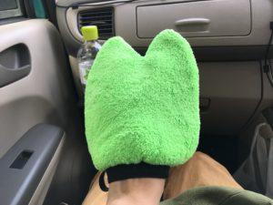 洗車グローブ・カエルの手のマイクロファイバー生地