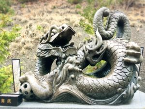 白崎八幡宮の干支の石像・辰