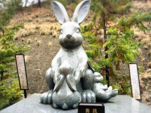 白崎八幡宮の干支の石像・卯