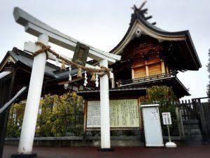岩國白蛇神社の白い鳥居