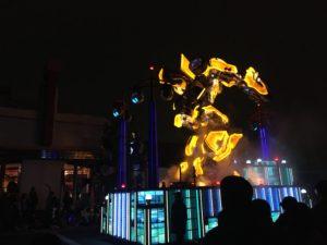 ユニバの夜のパレードのトランスフォーマー